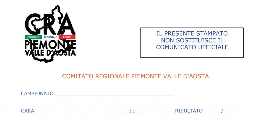 Rapportino AE fine gara (foglio ammoniti)